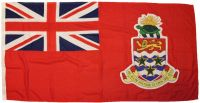 3.5yd 126x63in 320x160cm Cayman Islands red ensign (woven MoD fabric)