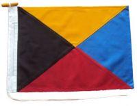 24x24in 61x61cm Zulu Z signal flag US Navy Size 3